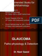 Glaucoma Pathophysiology and Detection