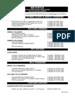 air ratua quick reference price guide ratua