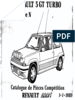 Catalogo Piezas de Competicion Renault 5 GT Turbo Grupo N (Frances)