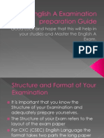 CXC English a Examination Preparation Guide