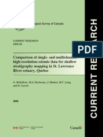 Comparison of Single- And Multichannel High-resolution Seismic Data for Shallow Stratigraphy Mapping in St. Lawrence River Estuary,