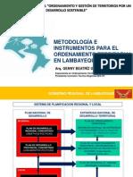 Metodología e instrumentos para el Ordenamiento Territorial en Lambayeque