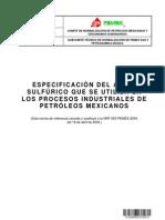 Nrf 055 Pemex 2013 Especificación Del Ácido