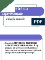 Psihologie Metode si Tehnici Experimentale