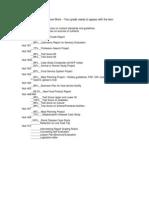 course work list