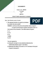 MB0026 Managerial Economics