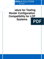 LCP Router Test Procedure