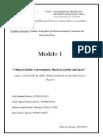 Modelo 1 - Estudos Culturais 2013