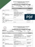 Planificacion de Actividades Dinamica de Grupo 2014-i