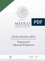 Guia Rapida Programa Opciones Productivas 2014