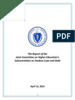 Massachusetts Joint Subcommittee on Student Debt