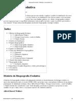 Biogeografia Evolutiva – Wikipédia, A Enciclopédia Livre