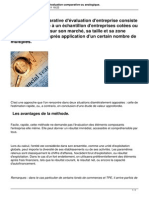 Methodologie La Methode d Evaluation Comparative Ou Analogique