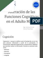 Alteración de Las Funciones Cognitivas en El Adulto