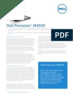 Dell Precision m4500 Spec Sheet