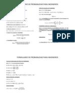 Formulario Probabilidad Para Ingenieros 1