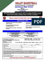 SV Shooting Camp Indee Registration