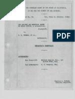 Reporter's Transcript AMORC vs E. E. Thomas (1931)
