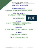Proy Horno Solar Vo Bis
