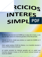 Ejercicios Interes Simple