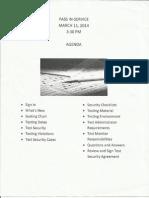 Professional Development Agendas and Handouts