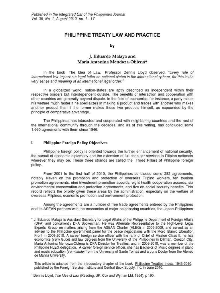 Philippine treaty law and practice memorandum of understanding philippine treaty law and practice memorandum of understanding treaty platinumwayz