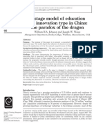 a stage modal on Chinese education