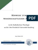 Hinweise Zum Wiss Arbeiten Auflage 2009-10