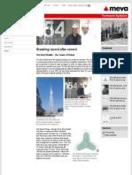 breaking record after recordthe burj khalifa  the tower of dubai - meva