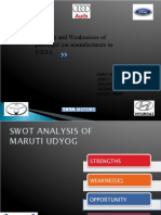SWOT of Car Manufacturers