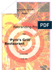 Re-brend of restaurant
