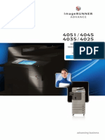 Canon imageRUNNER ADVANCE 4000 Series Brochure