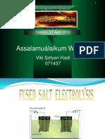 Fused Salt Electrolysis