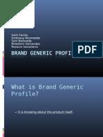 Brand Generic Profile