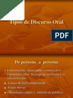 Tipos de Discurso Oral