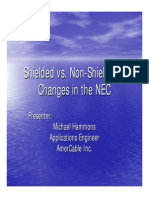 Shielded vs Non Shielded Cables in 2400 V circuits