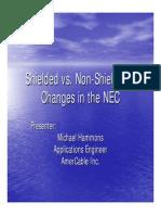 Shielded vs Non Shielded Cables in 2400 V circuits