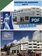 Prospecto Admision 2014 Unamba