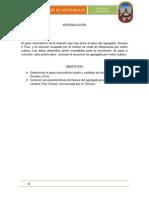 Informe de Tecnologia PESO VOLUMETRICO