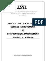 Six Sigma Project