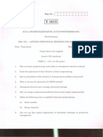 Applied Research Operation and Management Question Paper