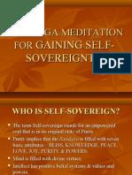 RAJAYOGA MEDITATION FOR GAINING SELF-SOVEREIGNTY