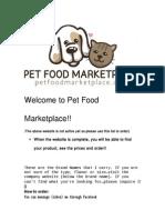 Pet Food Marketplace