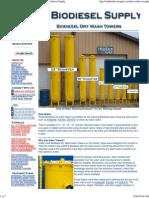 Biodiesel Dry Wash Ion Exchange Towers - Utah Biodiesel Supply