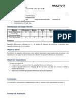 Plano de Ensino 20141 Publicação Equações Diferenciais