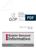 Boletin Semanal 189