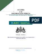 ACCESO a LA INFORMACIÓN PÚBLICA Un Beneficio Para Las Empresas en Argentina