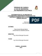 Tesis Determinacion de Emisiones Contamiantes de Centrales Termicas en El Ecuador