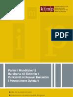 Parimi i Mundësive të Barabarta në Sistemin e Punësimit në Kosovë, Hulumtim i Perceptimeve Qytetare