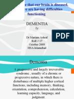 Dementia Dr MARYAM